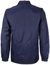 Men's Lightweight Water Resistant Button Up Nylon Windbreaker Coach Jacket image 8