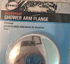 DANCO 89172 Metal Construction With Chrome Finish Universal Shower Arm Flange image 1
