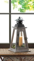 Rustic Pine Wood Pyramid Design Watchtower Candle Lantern - $28.08