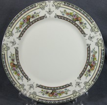 Mikasa Cambridge L9015 Dinner Plate Floral Rim Green and Blue Border - $23.95