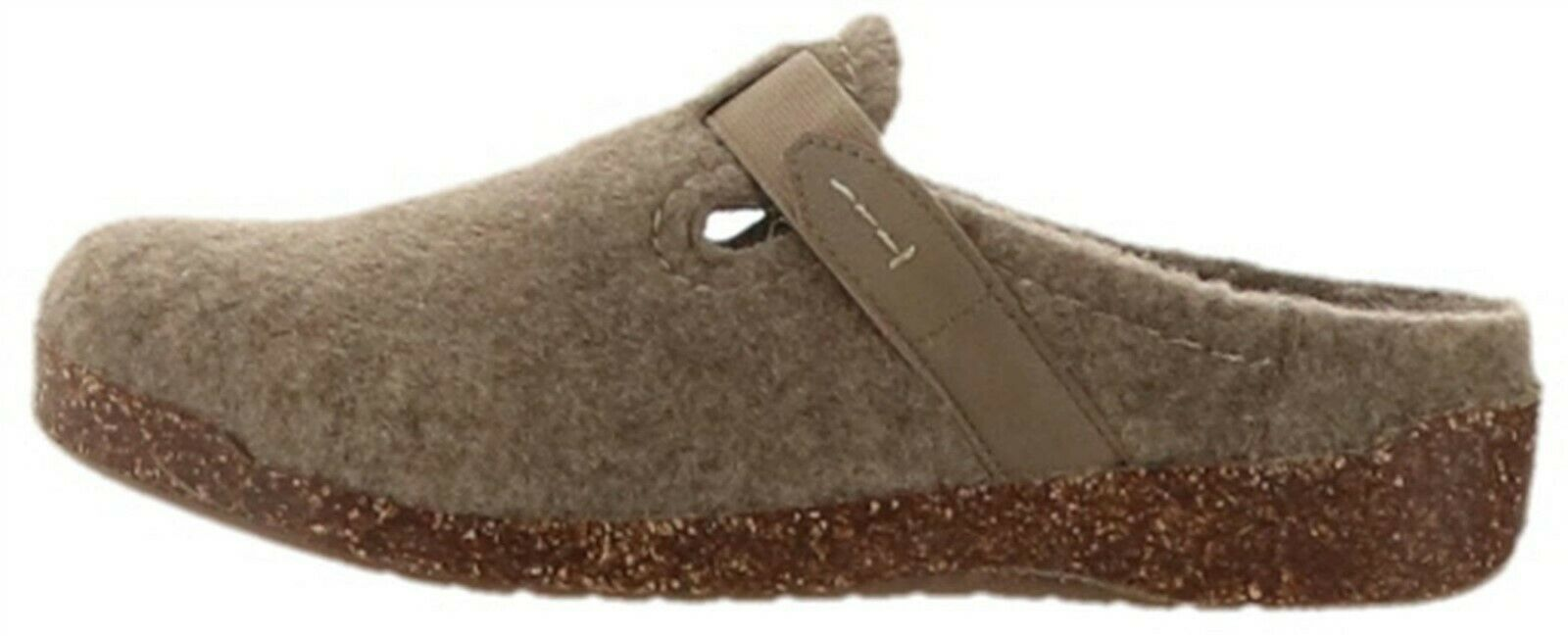 Primary image for Earth Origins Felt Slip-On Clogs Strap Detail Jenna Oatmeal 8.5M NEW A342507