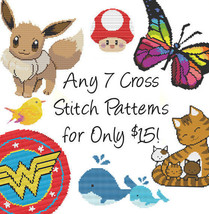 Cross Stitch Patterns - Any 7 Cross Stitch Patt... - $15.00