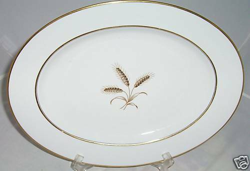 Primary image for ROSENTHAL WHEATFIELD OVAL PLATTER WHEAT WINIFRED