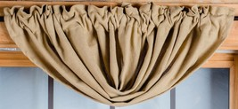 Olivia's Heartland country primitive Deluxe BURLAP Balloon window VALANCE 60x15 - $22.95