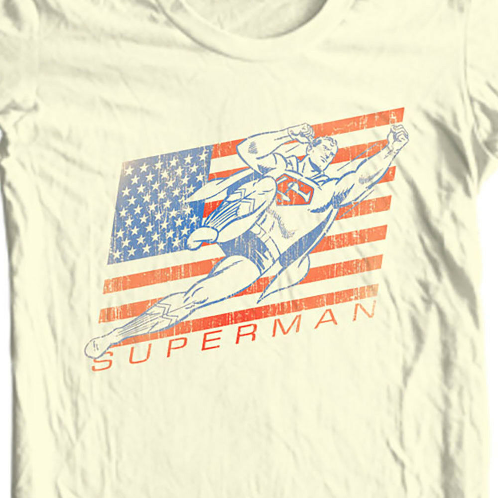 Vintage Superman T-shirt Classic Golden Age DC comics graphic cotton tee SM1405