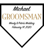 Groomsman Large Home Plate Plaque Wedding Gift - Personalized Wedding Favor - $59.95