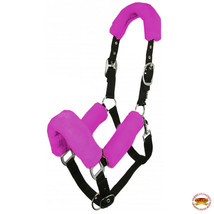 Hilason Comfort Fleece Nylon Horse Halter Pink U-PINK - $25.99