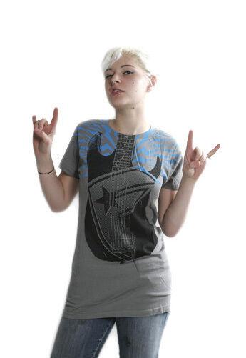 Famous Stars & Straps Gris Électrique Usine Guitare T-Shirt Taille : Petit