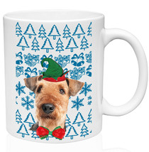 Airedale Terrier Christmas Santa P 11oz Ceramic High Quality Coffee Mug - $15.93