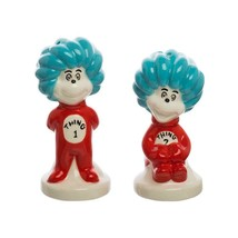 Dr. Seuss Thing 1 & 2 Cat In The Hat Sculpted Salt & Pepper Shaker Set N... - $19.34