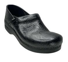EUC Dansko Nursing Professional Tooled Clog Slip-on Shoes 40 EU 9.5-10 US Black - $49.99