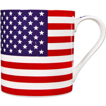 "Rare COFFEE / TEA MUG, AMERICAN USA FLAG, Patriotic, 17"" - $9.49"