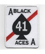 """4"""" USAF AIR FORCE VFA-41 SQUADRON WHITE BLACK ACES EMBROIDERED JACKET PATCH - $18.99"""