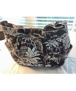 Vera Bradley Purse Handbag Brown & White With Pink Accents Island Style - $17.41