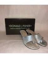 Luxury Donald J Pliner Fifi Kitten Heels Spark Faded Denim sz 6.5W US - $33.65