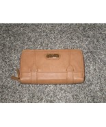 Jessica Simpson Clutch Wallet, Brown, Leather - $18.69