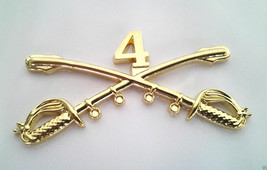 4TH CAVALRY INSIGNIA SWORDS Military Veteran US ARMY Hat Pin 16085 (LARG... - $7.91
