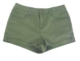 So Women Juniors Size 11 Dark Green 5 Pocket Style Cotton Blend Short Sh... - $7.69