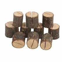 HAOLIVE 10PCS Rustic Real Wood Base Wedding Table Name Number Holder Par... - $11.36