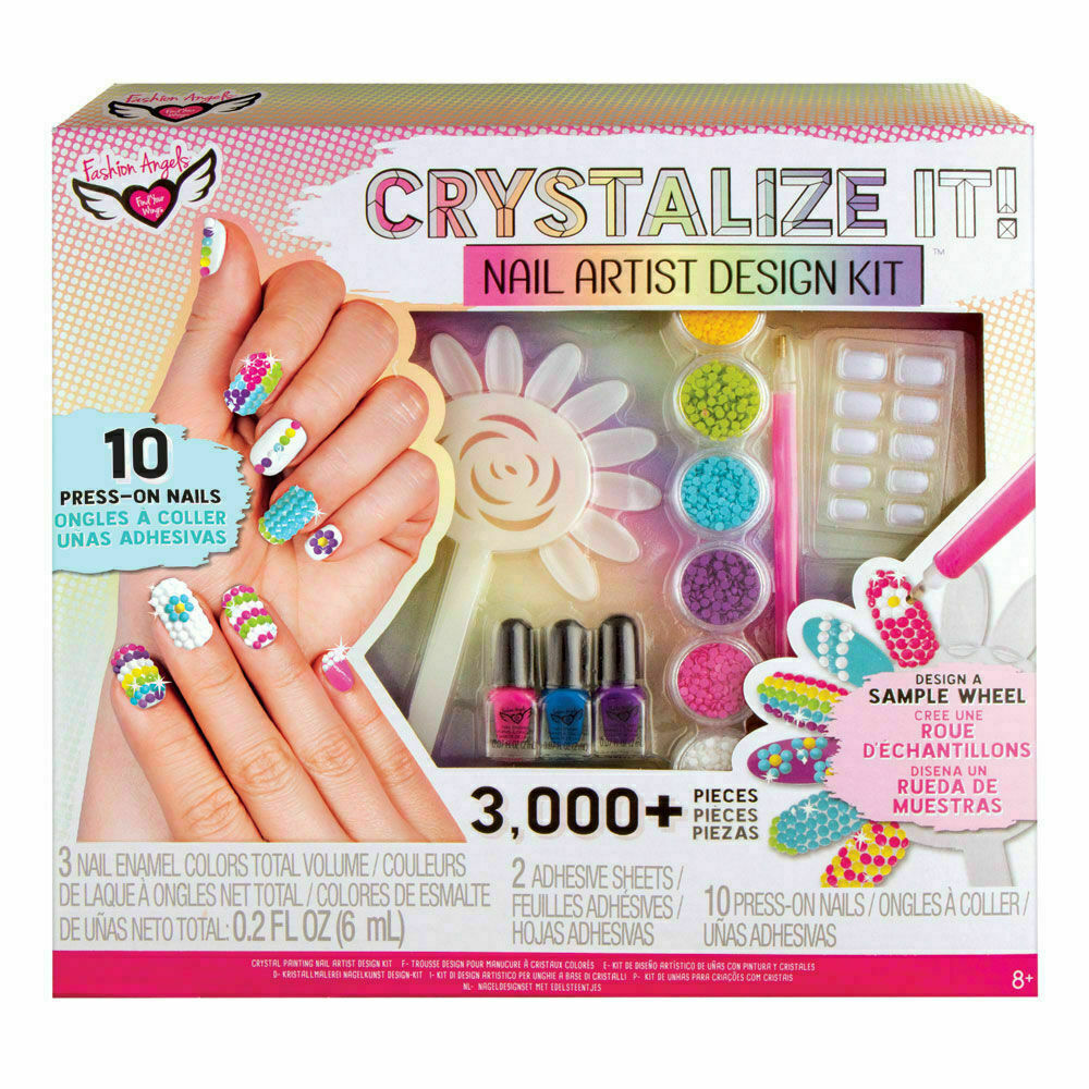Kids Craft Nail Artist Design Kit Crystalize It! By Fashion Angels NEW Sealed 8+