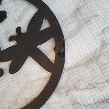 Cast Iron Trivet, Dragonfly Design, Metal Hot Mat, Pot Mat, Dragonflies Decor image 4