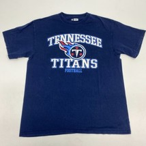 Tennessee Titans Football T Shirt Men's Large Short Sleeve Navy Crew Nec... - $17.99