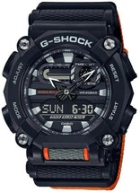 New Casio G-Shock Orange Nylon Strap Men's Watch GA900C-1A4 - $130.00