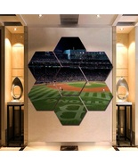 Boston Red Sox Wall Art Painting Canvas Poster Print Home Decor 7 Hexago... - $94.99+