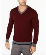 Tasso Elba Mens Merino Wool Blend V-Neck Solid Sweater Size M - £14.19 GBP
