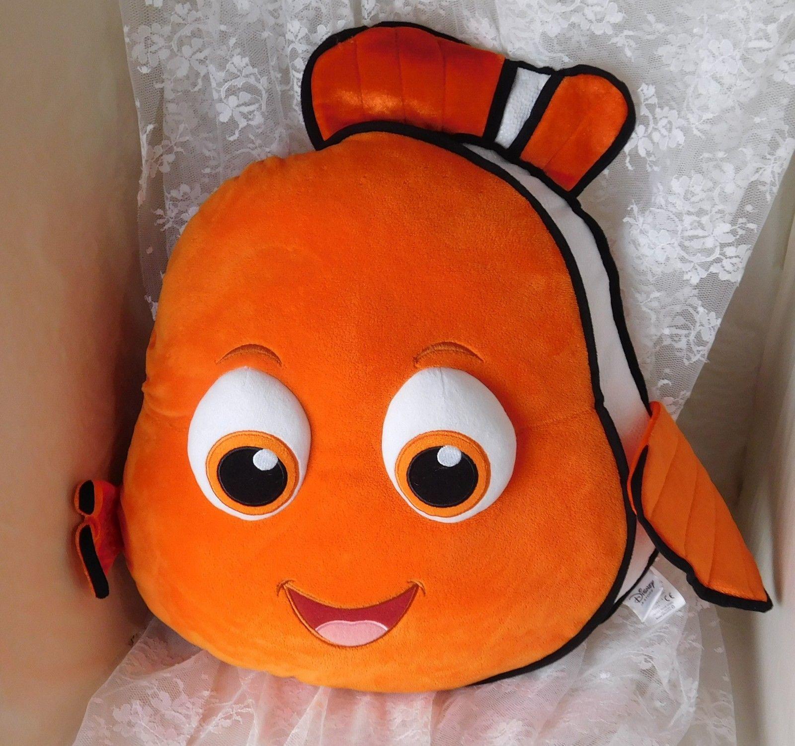 "Disney Store Plush Pillow - Extra Large Nemo from Finding Nemo - 20"" x 20"" x 2"" - $30.02"