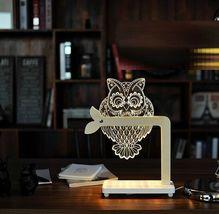 Mooas USB Wired Acryl LED Owl Night Mood Lights Lighting Lamp Indoor Interior image 3