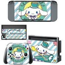 Nintendo Switch Joy-Con Dock Console Vinyl Skins Decals Cinnamoroll 15th Anime - $9.70