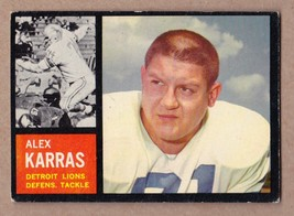 1962 Topps #58 Alex Karras Detroit Lions EX cond. no creases - $16.16