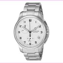 $795 Victorinox Mens 'Officers Chrono' Swiss Stainless Steel Casual Watch 24155 - $320.09