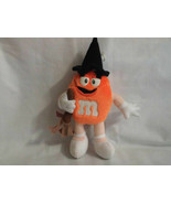 M&M's Orange 7 inches Plush Witch Hat Broom Halloween Stuffed Toy Doll 1997 - $7.99