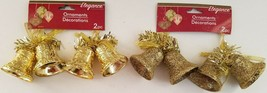 Christmas Ornaments Double Gold Bells 2 Ct/Pk  SELECT: Glitter or Gloss - $2.99