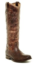 New in Box - $378 FRYE Melissa Button Chocolate Leather Riding Boots Siz... - $168.29