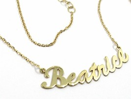 18K YELLOW GOLD NAME NECKLACE, BEATRICE, AVAILABLE ANY NAME, ROLO CHAIN image 2