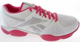 Reebok Fitnisrush V51903 Women's WHITE/BERRY/SILVER Shoes Size 10 - $44.99