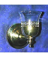 Brass sconce with oyster style votive cup - $12.95