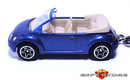Rare Key Chain Blue Vw New Beetle Volkswagen Convertible Custom Limited Edition - $34.98
