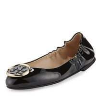 Tory Burch Twiggie Patent logo  Ballet Flats Shoes Retail: $250 - $135.00