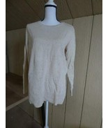 Maison Jules Crew Neck Side Slits Flecked Sweater, M, Walnut - $9.55