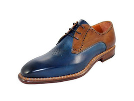 Party Wear Premium Blue Brown  Suede Leather Stylish Men Lace Up Oxford Shoes - $139.90+
