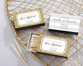 Personalized Match Box Bridal Shower Wedding Anniversary Favor Assorted ... - $61.70+
