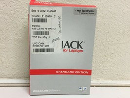 ABSOLUTE SOFTWARE LOJACK FOR LAPTOPS STANDARD EDITION - $14.84