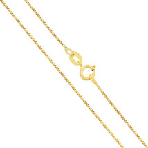 14K Solid Yellow & White Gold Italy Box Necklace Pendant Chain 0.9mm - $78.53 - $129.03