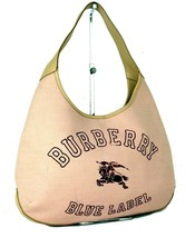 Auth Burberry London Blue Label  Fabric & Leather Hobo Shoulder Bag Hand Bag - $177.21