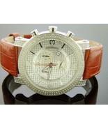 Aqua Master quartz watch Stainless Steel 45m Round 2.25ct Diamond brown ... - $791.99
