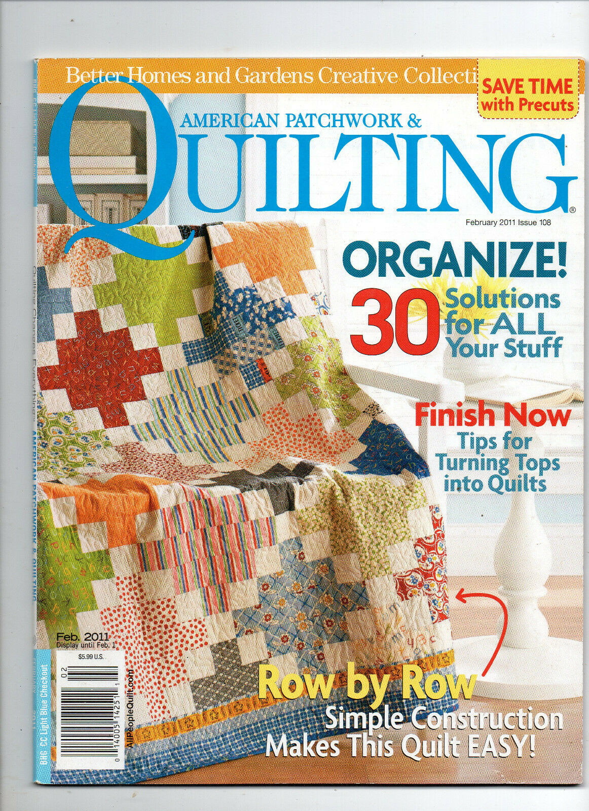 Primary image for Feb 2011/American Patchwork & Quilting/Preowned Craft Magazine
